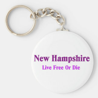 Nuevos - Hampshire - libres vivos o mueren Llavero Redondo Tipo Pin