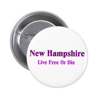 Nuevos - Hampshire - libres vivos o mueren Pin Redondo 5 Cm
