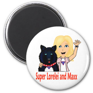 Nuevos héroes ficticios Lorelei y Maxx estupendos Imán Para Frigorifico
