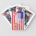 Nuevos - jersey - naipes del mapa de la bandera de baraja de cartas