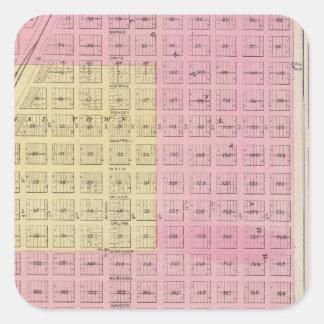 Nuevos Kiowa Sun City Stanley y Holliday Kansa Pegatinas Cuadradas
