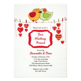 Nuevos pares - invitación del brunch del boda del
