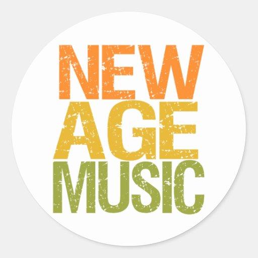 Nuevos pegatinas de la música de la edad pegatina redonda
