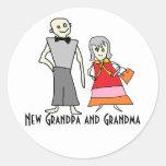 • Nuevos pegatinas del abuelo y de la abuela Etiquetas Redondas