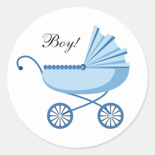 Nuevos pegatinas del sobre del bebé pegatinas redondas