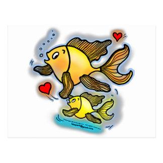 Nuevos pescados del bebé tarjetas postales