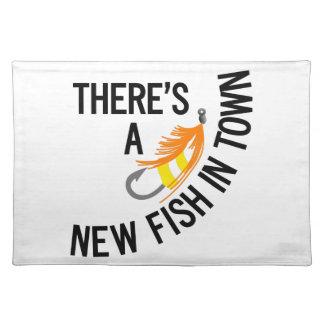 Nuevos pescados mantel individual
