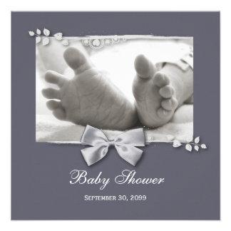 Nuevos pies del bebé de la fiesta de bienvenida al comunicado personalizado