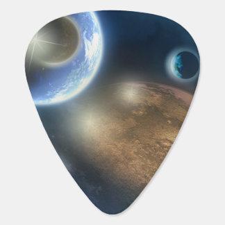 Nuevos planetas plumilla de guitarra