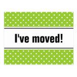 Nuevos polkadots verdes móviles caseros de las pos postales