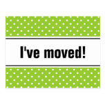 Nuevos polkadots verdes móviles caseros de las pos postal