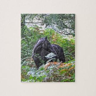 Nuevos potro y bosque negros Reino Unido del bosqu Puzzle