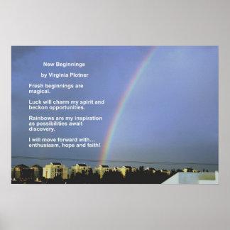 Nuevos principios por Virginia Plotner Posters