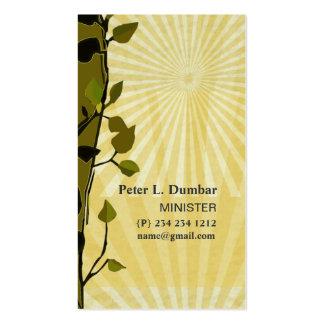 Nuevos rayos de Sun del oro de la fe del día Tarjetas De Visita