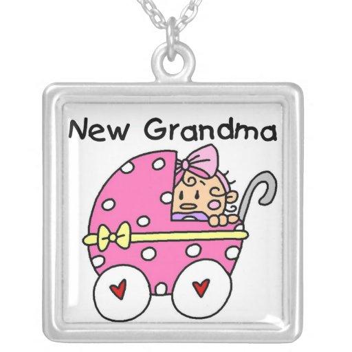Nuevos regalos de la abuela de la niña colgante cuadrado