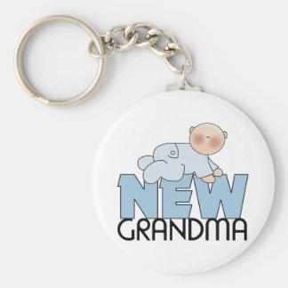 Nuevos regalos de la abuela llavero redondo tipo pin