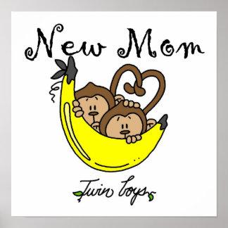 Nuevos regalos de la mamá de los muchachos gemelos poster