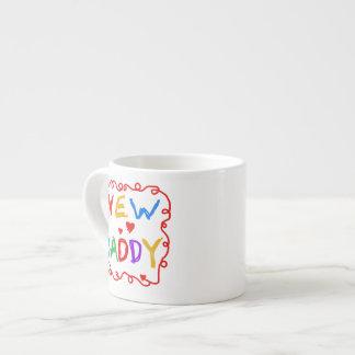 Nuevos regalos del papá de los colores primarios tazitas espresso