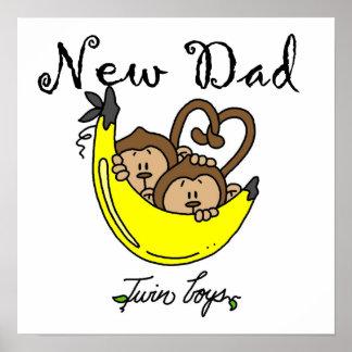 Nuevos regalos del papá de los monos gemelos de lo impresiones