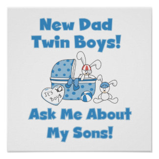Nuevos regalos del papá de los muchachos gemelos impresiones