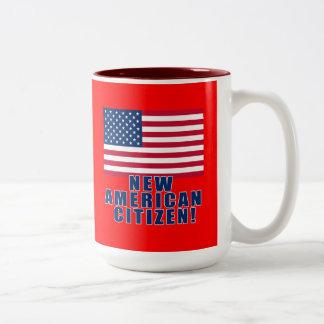 Nuevos regalos y camisetas americanos del taza de café de dos colores