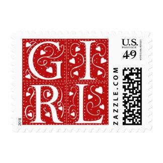 Nuevos sellos de la invitación del bebé de la niña