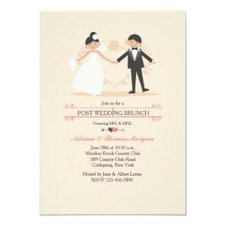 """Nuevos Sr. y señora Post Wedding Brunch Invitation Invitación 5"""" X 7"""""""