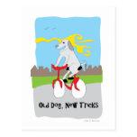 Nuevos trucos del perro viejo - pata de la atracci postal