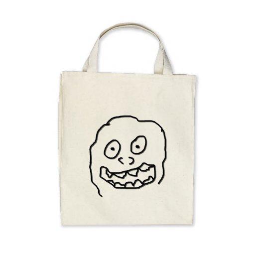 Nuez 0003 del Doodle del Goof blanco y negro Bolsa Lienzo