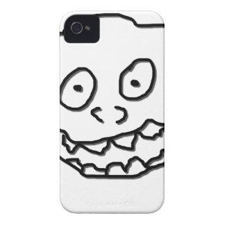 Nuez 0003 del Doodle del Goof blanco y negro Funda Para iPhone 4