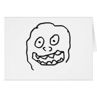 Nuez 0003 del Doodle del Goof blanco y negro Tarjeta De Felicitación