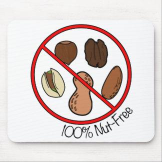 Nuez 100% libre (nueces y cacahuetes del árbol) alfombrillas de ratones