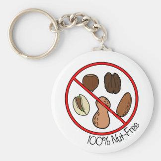 Nuez 100% libre (nueces y cacahuetes del árbol) llaveros personalizados