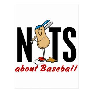 Nuez 2 del béisbol tarjeta postal