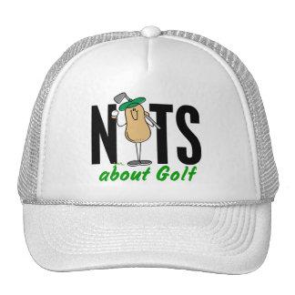 Nuez 2 del golf gorras