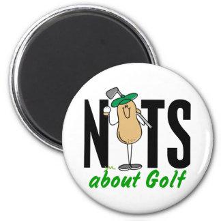 Nuez 2 del golf imán redondo 5 cm