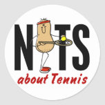 Nuez 2 del tenis etiquetas redondas