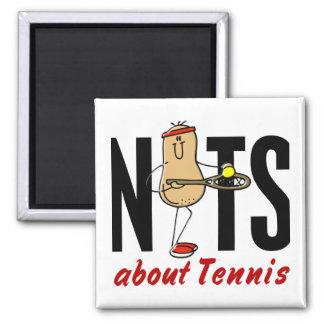 Nuez 2 del tenis imanes de nevera