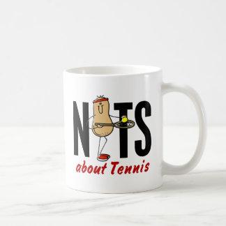 Nuez 2 del tenis taza básica blanca