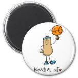 Nuez 3 del baloncesto imán de frigorífico