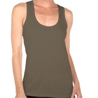 Nuez Brown de la camiseta de Racerback de las muje