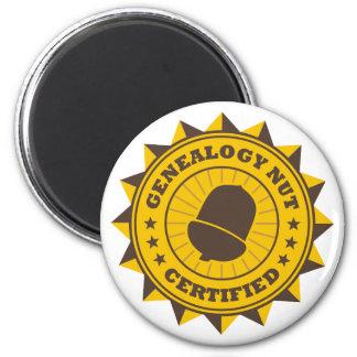 Nuez certificada de la genealogía imán redondo 5 cm