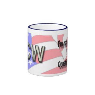 Nuez de la constitución, CCW Drinkware Taza De Dos Colores