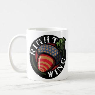Nuez de la derecha taza de café