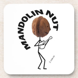 Nuez de la mandolina posavasos de bebida