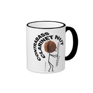 Nuez del Clarinet del Contrabass Taza De Café