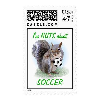 Nuez del fútbol sello