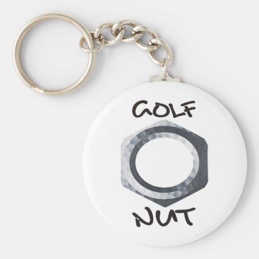 Nuez del golf llavero redondo tipo pin