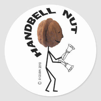 Nuez del Handbell Etiquetas Redondas
