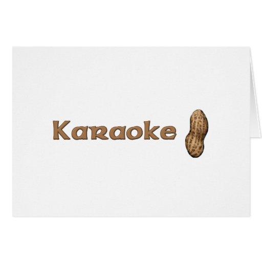 Nuez del Karaoke Tarjeta